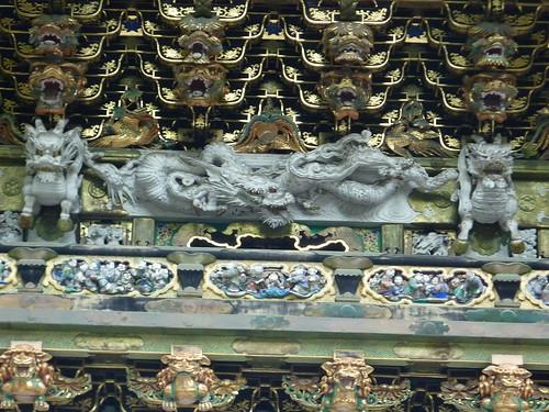 Detall capitol tomba, temple Nikko