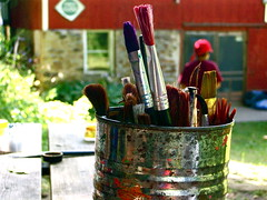 Paint Brushes (Kara Allyson) Tags: art wisconsin facepainting paint brushes paintbrushes campwoodbrooke