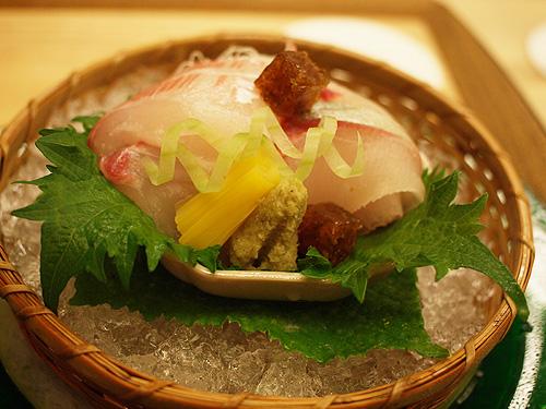 Roan Kikunoi firm sashimi