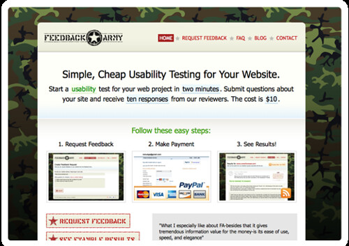 FeedbackArmy - Website Usability Testing