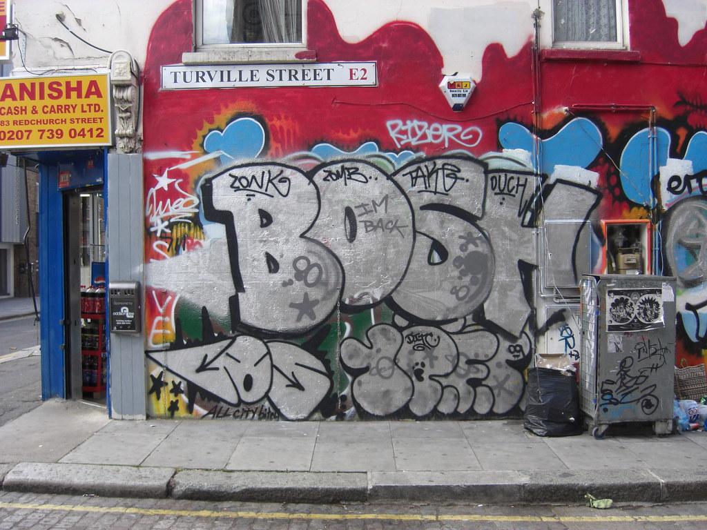 Bosh john19701970 tags street uk england urban streetart london art wall foot graffiti