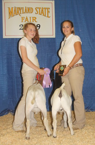 Champion and Reserve Champion Rate-of-Gain (L-R) Ashley Bennett and Danielle Moore