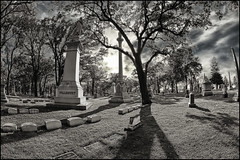 lakewood cemetery minneapolis (Dan Anderson (dead camera, RIP)) Tags: bw monument cemetery grave graveyard minnesota dead death bury scary memorial headstone tomb tombstone minneapolis spooky burial marker vault twincities lakewood burying crypt mn markers hdr plot gravesite furnal