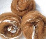 CENTAUR  - hand prepared roving - alpaca and soy silk