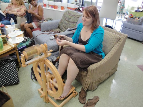 Spinning, in a chair way too short for me...