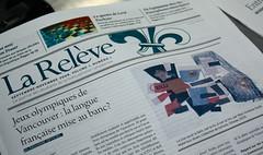 La Relève, nouveau journal francophone pancanadien!