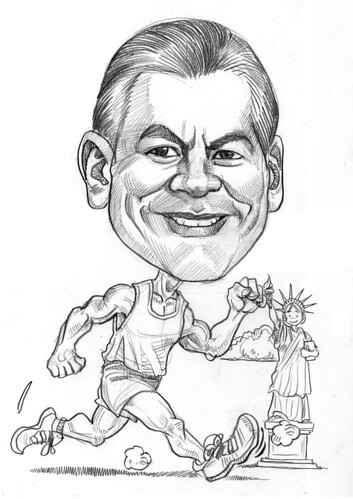 Runner caricature for Exxonmobil - 1