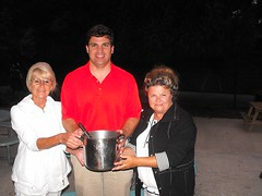Chili Cook-off Winners Arlene and Lynn with Senator Peters