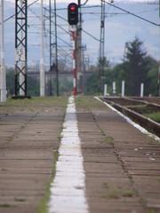 Stj! (magro_kr) Tags: station platform poland polska rail railway line semaphore peron malopolska pkp maopolska kolej semafor linia maopolskie malopolskie stacja staryscz starysacz