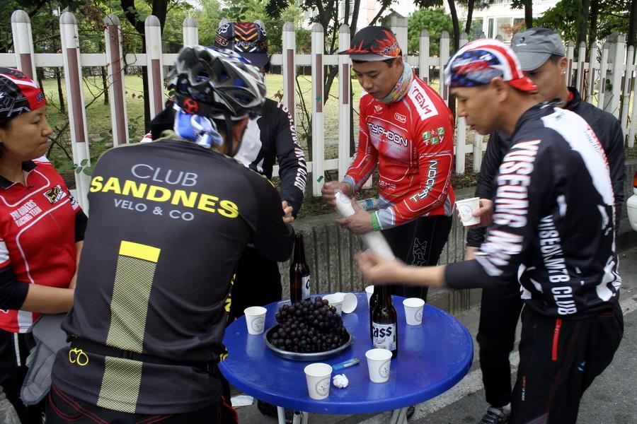 After-ride beer