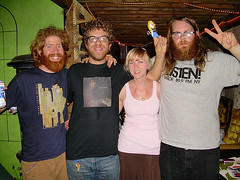 Leah, Lil Leah, and the guys from Megafan
