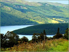Loch Knockie - beauty of Scotland (jackfre2 (on a trip-voyage-reis-reise)) Tags: lake scotland highlands fishing hills loch forests glens immensity allshadesofgreen platinumbestshot