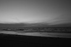 dusk  beach (mak burn) Tags: mer noiretblanc paysage soir crpuscule plage couchersoleil makburn