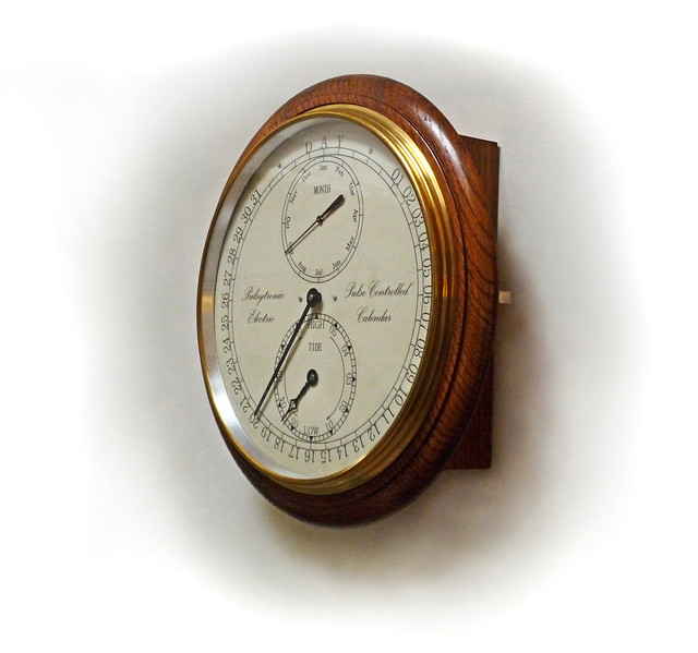 "12"" Slave Calendar & Tide Clock P1000576"