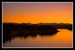 Rockyview (stevenbulman44) Tags: sky orange moon calgary water night bravo alberta rockymountains soe resevoir absolutelystunning mywinners anawesomeshot anawesomephoto betterthangood