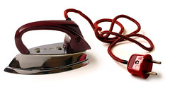 Electric toy iron with Bakelite handle and plug (juliensart) Tags: museum vintage collection plastic bakelite ghent gent bakelit bakeliet baekeland juliensart