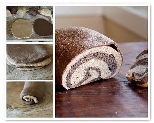 Making Marble Rye Bread