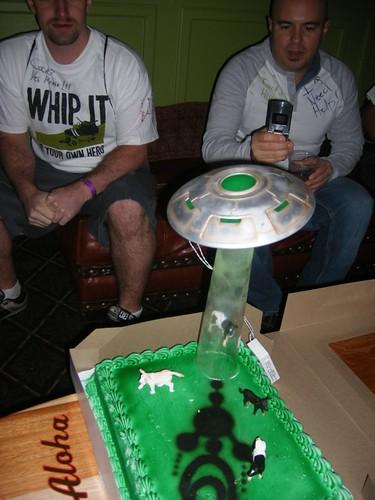 Nikki & Noreen's Alien Abduction Cake