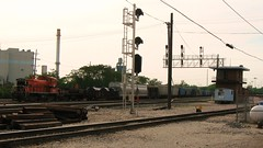 Switching at the Indiana Harbor Belt Railroad Argo Yard. Summit Illinois. May 2009.