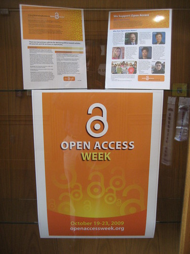 Open Access Week exhibit