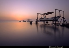 Sunrise (Helminadia Ranford) Tags: beach nature beautiful sunrise canon boat bahrain gulf country middleeast arabia 1022mm askar eos50d