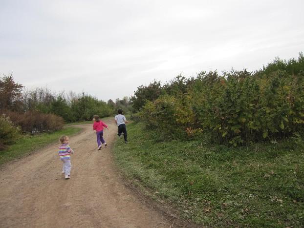 Kids.  Running.