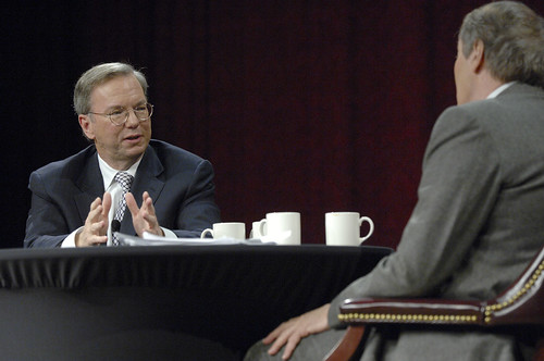 Google CEO Eric Schmidt explaining the future of the internet
