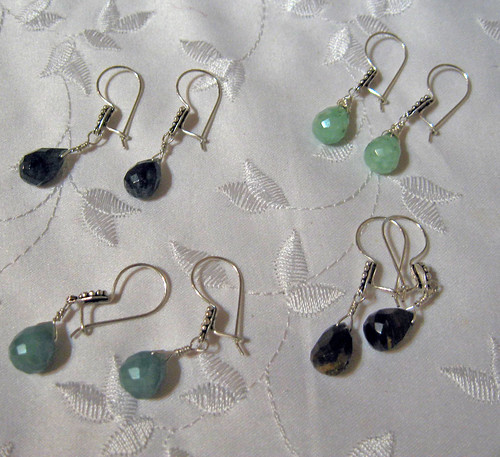 4 Pairs of Briolette Earrings