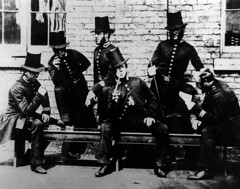 Manchester Peelers - Policing the 1840s (Greater Manchester Police) Tags: manchester group pipe victorian police staff tophat gmp peelers britishpolice manchesterpolice claypipe victoriapolice stovepipehat ukpolice victorianpolice policegroup greatermanchesterpolice greatermanchesterpolicemuseumandarchives manchesterpeelers unitedkingdompolice victorianmanchester earlypolice earlypolicemanchester firstpolice firstpoliceofficers groupofpeelers