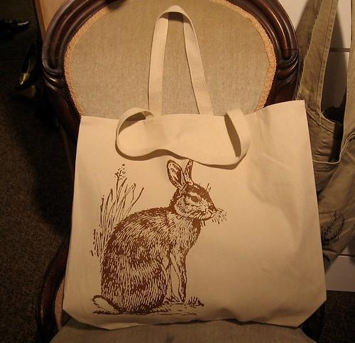 Bunny rabbit tote