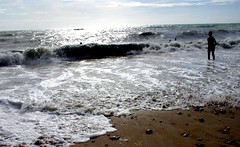 Wimereux -bathing at sunset (april-mo) Tags: dunes channel seasideresort sandybeach pasdecalais wimereux ctedopale northernfrance slackdunes