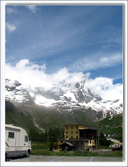 Most beautiful Camperplace ( Annieta  Off / On) Tags: italy mountain holiday color nature june juni clouds canon ilovenature vacances vakantie juin italia natuur wolken powershot piemonte matterhorn s2is bergen alpen farbe colori canonpowershots2is 2009 couleur allrightsreserved aosta itali valledaosta valdaosta kleur parkingplace montecervino aostavalley campingplace annieta breuilcervinia bellitalia concordians worldtrekker valledaosta travelsofhomerodyssey camperplaats usingthisphotowithoutpermissionisillegal usingthisphotowithoutmypermissionisillegal camperplace