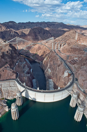 Hoover Dam with Bypass behind