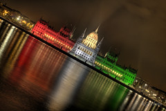 Parlament HDR Tricolor (kgka00) Tags: reflection canon eos hungary budapest parliament parlament hdr photomatrix 450d hdrcreativeshots