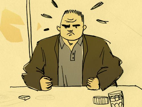 Paulo est en pétard. Illustration de Célia Rivière.