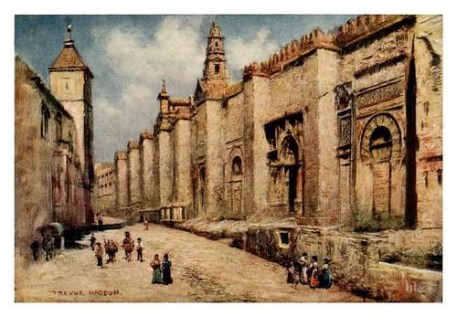 017-Exterior de los muros de la Mezquita de Córdoba-Southern Spain 1908- Trevor Haddon