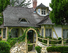 ONCE UPON A TIME..... (linda yvonne) Tags: fairytale cottage arbor onceuponatime carmel whimsical carmelbythesea cottagegarden interestingness5 i500 robertsouthey litref lindayvonne fairytalecottage storybookhome eyebrowwindow carmelstonewall