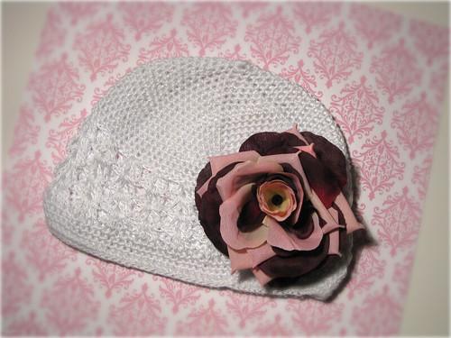 White Baby Crochet Kufi Beanie - $10.00