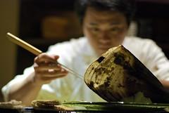 Making Scallop (CookieDuster) Tags: food dinner sushi japanese yum sashimi venturablvd redginger