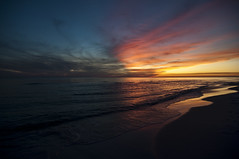 two-faced sunset (Diana Pappas) Tags: ocean sunset sky gulfofmexico water clouds sand colorful florida panhandle rosemarybeach