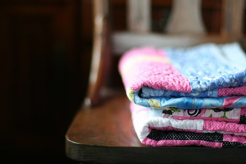 handmade gifts: child size lap quilts
