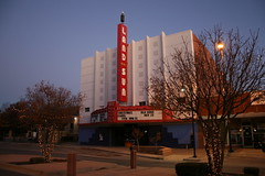 land of the sun theatre in the morning (Exquisitely Bored in Nacogdoches) Tags: morning marquee theater neon theatre moderne neonsign streamline artesia streamlinemoderne theatermarquee landofthesun movietheatermarquee artesianewmexico landofthesuntheatre thelandofthesuntheatre