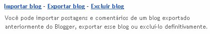 Exportar blog no Blogger.