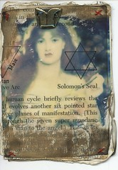 Queen of Pentacles - Tarot (shellyrs68) Tags: atc mixedmedia tarot rosetti queenofpentacles