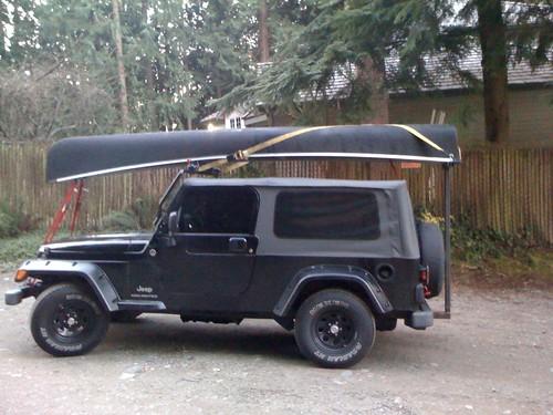 Hauling A Canoe On A Soft Top Tj Jeepforum Com