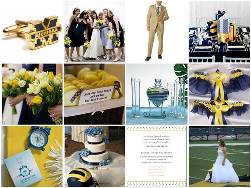 University of Michigan Wedding Theme Navy and Yellow Wedding Theme