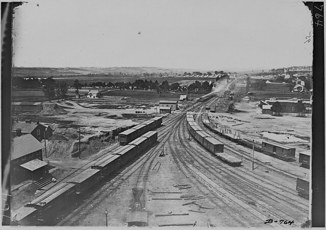 Railroad Yards by The US National Archives