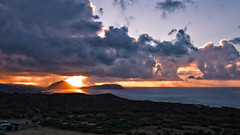 SUNRISE FROM DIAMOND HEAD (boydbrooks999) Tags: seascape clouds sunrise landscape hawaii oahu scenic diamondhead kokohead kokocrater