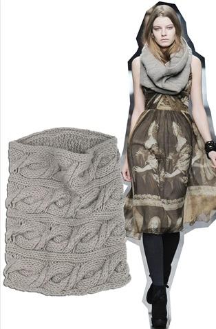 Burberry 粗線棒針織羊絨圍巾