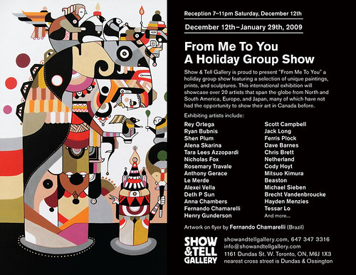 """From Me To You"" Group Show Show & Tell Toronto, ON Dec 12"